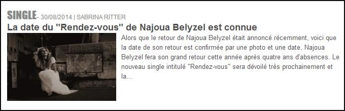 Najoua belyzel rendez vous dating